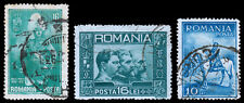 Romania Scott 395, 403, 416 (1931-32) Used H F, CV $5.35