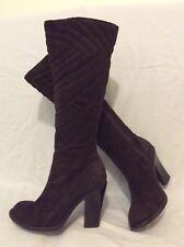 Studio TMLS Dark Brown Knee High Suede Boots Size 36