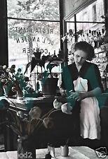 Paris/French Black/White Photo poster/Shop Girl/1950's/13x19 inch Vintage Print