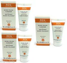 REN Micro Polish Cleanser 0.5 fl oz / 15 ml - BOXED - 3 PIECES