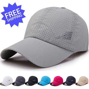 Men Women Summer Baseball Golf Sun Cap Quick Dry Breathable Sport Adjustable Hat