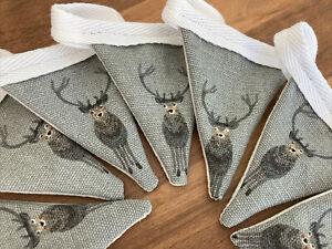 Handmade Mini Bunting In Beautiful Sophie Allport Stag fabric