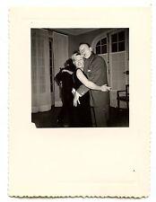 Couple de danseurs homme femme soirée -  photo ancienne an. 1950