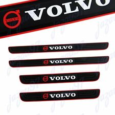 For VOLVO NEW 4PCS Black Rubber Car Door Scuff Sill Cover Panel Step Protector