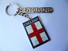 ENGLAND FOOTBALL KEYRING   2 METAL  CHARMS STRONG CLIP CAR KEY GIFT BAG PARTY