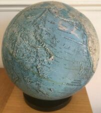 Vintage National Geographic Society Physical World Globe Map on Stand Rare 1979