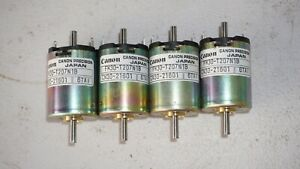 FOUR Canon Precision motors,  12V  7-pole, FN30 series, Japan