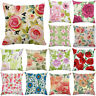 Square Soft Cushion Cover Vintage Shabby Chic Pink Rose Floral Throw Pillow Case