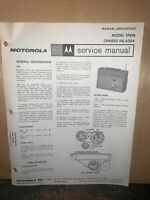 Motorola Radio Model TP81B -Service Manual- technical Information,schematics