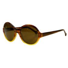 f627a5030b54c2 Carolina Herrera Round Brown Tortoiseshell Sunglasses She515 06wg