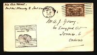Canada 1929 FFC - Ft McMurray to Wrigley - Z16674