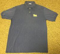 Pitt Panthers ~ University Of Pittsburgh Youth Sz XL BLUE Polo Shirt NCAA LOGO