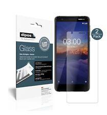2x Nokia 3.1 Screen Protector matte Flexible Glass 9H dipos