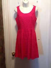 Elle Womens Dress Size 6 Hot pink / bright pink magenta Full Lace Spring