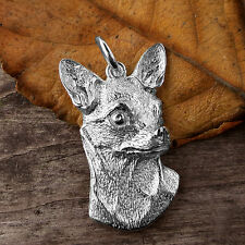 Sterling Silver CHIHUAHUA DOG Pendant or Charm
