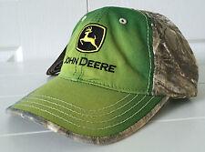 John Deere All Fabric Green Sunbleached Front & Realtree Camo Back Hat Cap