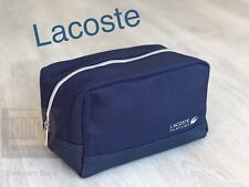 🆕💙💙💙LACOSTE WASH TOILETRY BAG FOR MEN Brand New Sealed Dark Blue!!!