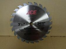 "ACE 7 1/4"" Circular Saw Blade 24 Carbide Teeth 5/8"" Arbor General Purpose"