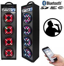 Altavoz portátil con karaoke bluetooth entrada para 2 microfonos altavoces torre