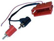 Connecteur fiche rouge adaptateur mini ISO VERS 2X RCA mâle pour autoradio
