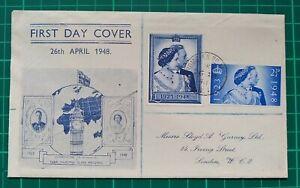 1948 Silver Wedding George VI & Queen Elizabeth 1923-1948 First Day Cover