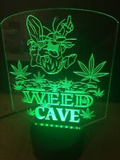 Marijuana Captain Cave Man Led Neon Light Sign Game Room Color Change