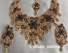 Indian/Pakistani Bollywood Style Kundan #Necklace Earrings And Tikka Set#