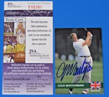 COLIN MONTGOMERIE SIGNED 1992 PRO SET GOLF CARD #E12 ~ JSA T05381 ~