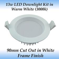 13 Watt Dimmable LED Downlight Kit in Warm White Light with White Frame