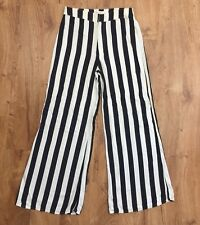 Abercrombie And Fitch Womens Sz 6 Striped Pants High Waist Prison Look Waist 29""