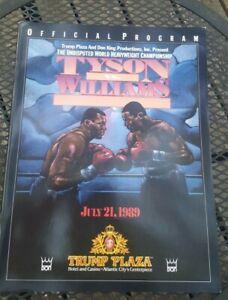 Original Mike Tyson + Carl Williams Boxing Program. 1989. Trump Plaza. Nice.