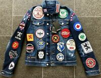 DSQUARED2 S/S 2017 SOCCER PATCHES JACKET JACKE JEANS 48 HOOLIGAN HOT MASTERPIECE