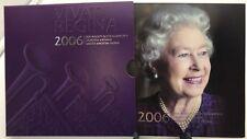 United Kingdom 2006 £5 Pounds Queen Elizabeth 80th Birthday UK Royal Mint Folder