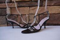 Gorgeous VERA WANG Swarovski sandals  Pumps Heels ANKLE STRAP  Sz US 8 / EU 38