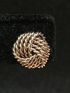 Tiffany & Co .925  Sterling Silver Twist  Knot Stud  Earrings