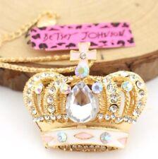 Enamel Betsey Johnson Hot Jewelry Pendant Crown Fashion Golden chain Necklace