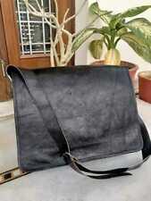 Men's Hand-Crafted Messenger Bag Real Black Leather Shoulder Satchel Laptop NEW