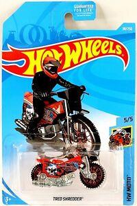 🔥 Hot Wheels Tred Shredder 🟥Red🟥Motorcycle HW Moto #5/5 Die-Cast 1:64 Mattel
