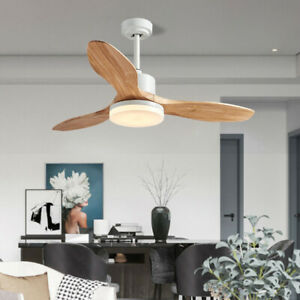 48 inch 3 Blade Ceiling Fan With Light and Remote LED Adjustable Colors
