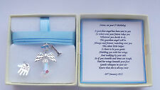 1st Birthday Gift Guardian Angel Personalised keepsake present BOY MEMORY BOX