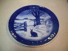 Collectible Royal Copenhagen 1971 Hare In Winter Porcelain Plate Christmas