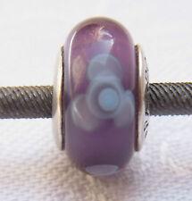 Original Pandora Beads Element 790643 Glas Blumen Lila Silber Spacer Charms Nr.2