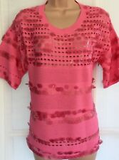 NEW NEXT 10 ladies pink sequin disc knit short sleeve t-shirt jumper party tunic