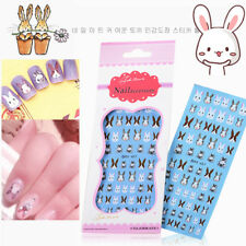 Animal Water Decal Paper Cute Cat Dog Bunny Rabbit Nail Art Stickers Decals DIY