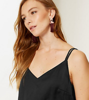 Ladies Vest Top Cami M&S Black Crepe V Neck Back & Front 22 BNWT / Marks Women