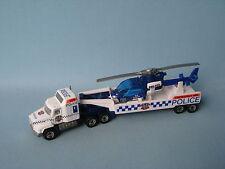 Matchbox Convoy Mack Reino Unido transportador de helicóptero de la policía británica Sin Caja