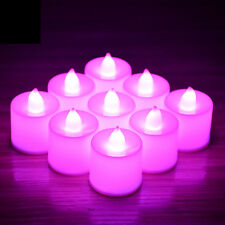 Led Tea Lights Candles LED FLAMELESS Battery Operated Wedding XMAS UK