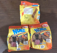 Nylabone Natural Nubz U921485C Edible Dog Chews, 2.6lbs - 22 Count