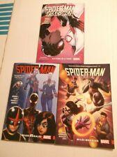 SPIDER-MAN:  MILES MORALES + SPIDER-MAN/SPIDER-GWEN TPB LOT OF 3 BOOKS