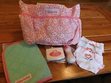 AMERICAN GIRL BITTY BABY OR TWIN PINK FLORAL DIAPER BAG SET NEW IN BOX RETIRED